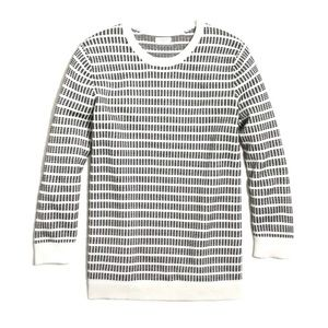 NWOT J Crew Dot Dash Quarter Sleeve Sweater